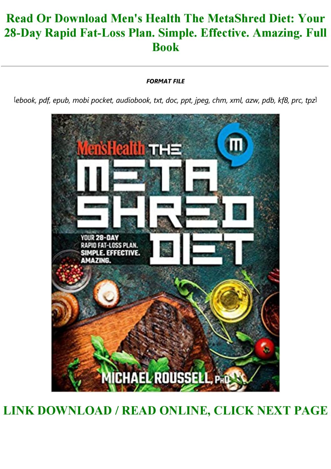 mens health the metashred diet by michael roussell