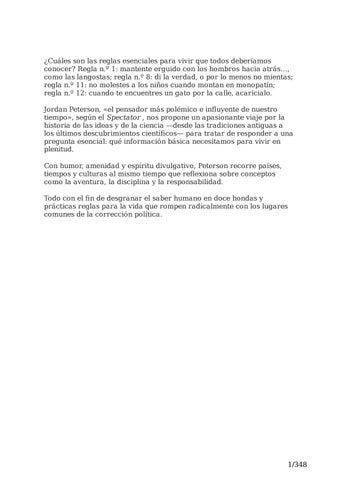 Ecología vacío Notorio  12 reglas para vivir - Jordan Peterson by Daniel Kai Vargas - issuu
