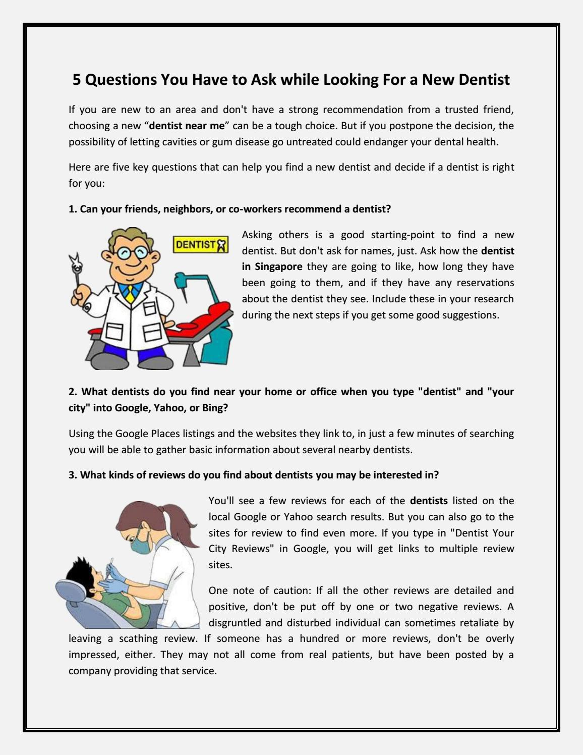 How to find the right dentist for your family by charismile20   issuu