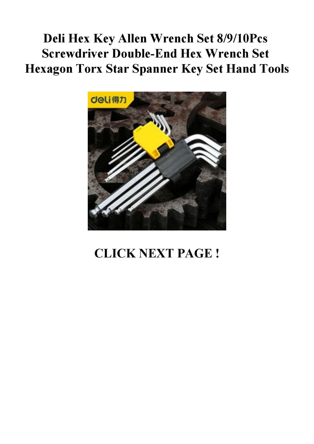 Deli Hex Key Allen Wrench Set 8910pcs Screwdriver Double End Hex Wrench Set Hexagon Torx Star Spa By Vxgdfrderx Issuu