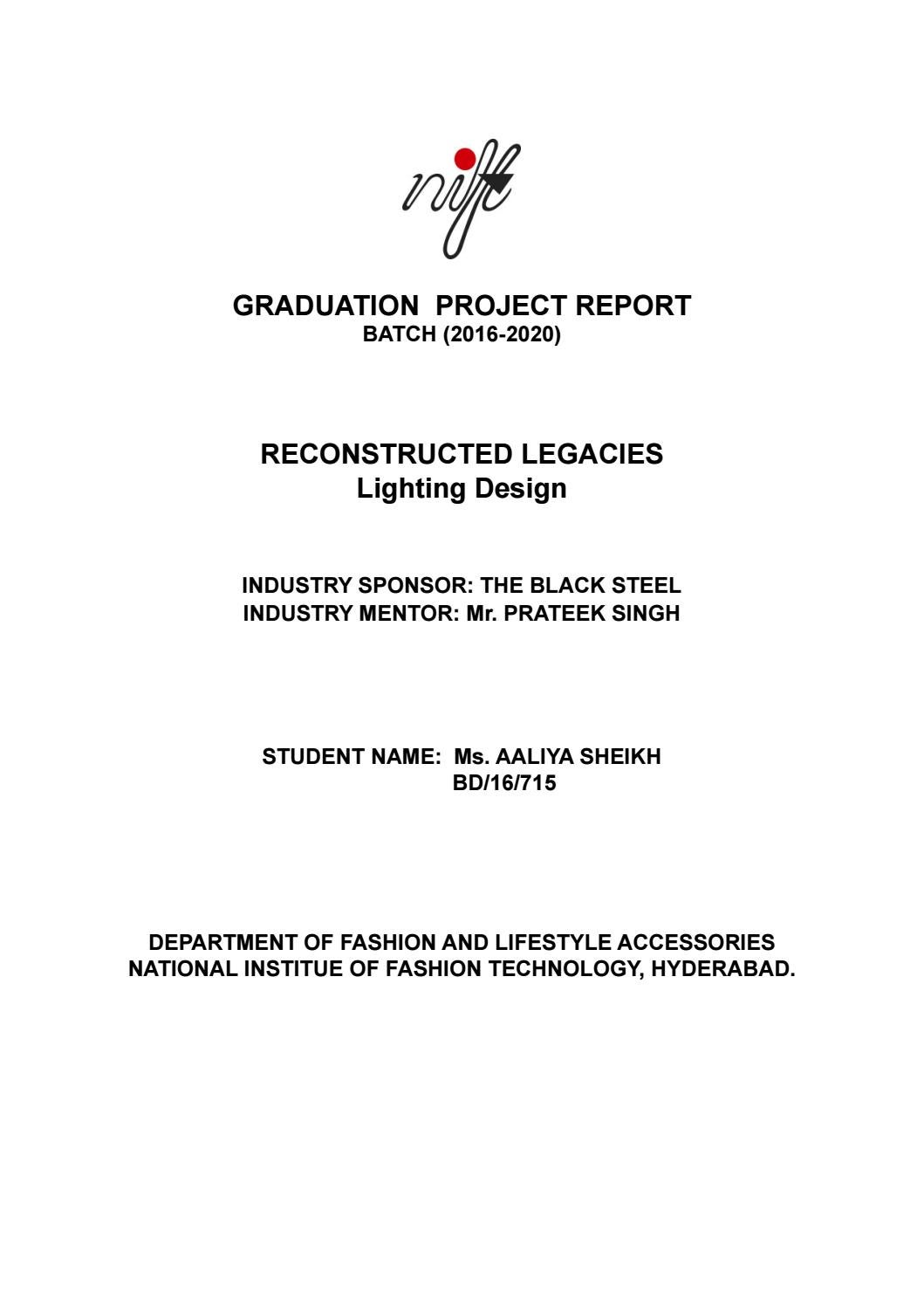 Nift Graduation Project Document By Aaliya Sheikh Issuu