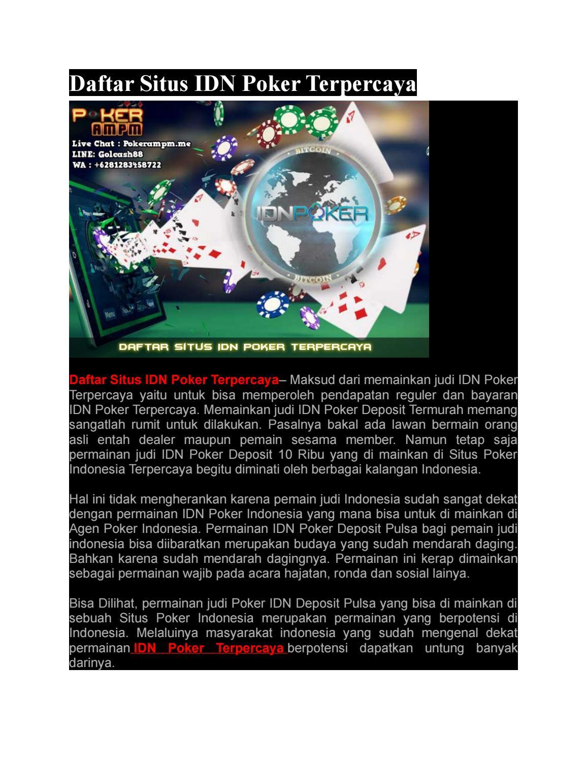 Idn Poker Ampm