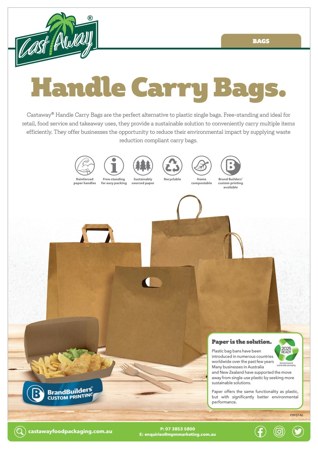 Paper Carry Bags By Mpm Marketing Services Castaway Food Packaging Issuu