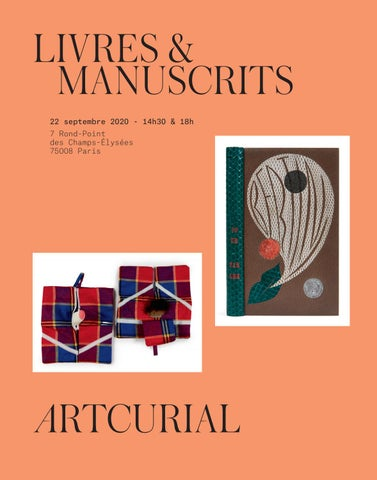 Livres Manuscrits By Artcurial Issuu