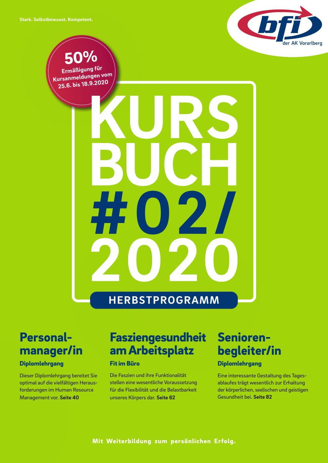 BFI Kursbuch Herbst 20 by BFI der AK Vorarlberg   issuu