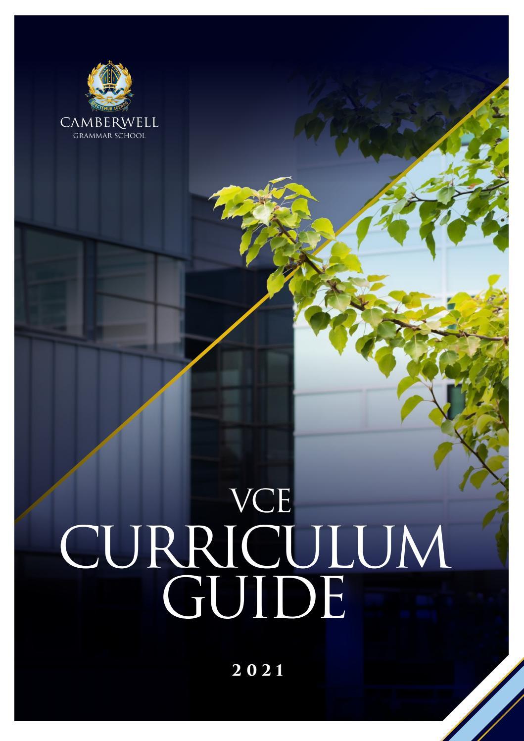 Vce Curriculum Guide 2021 By Camberwell Grammar School Issuu