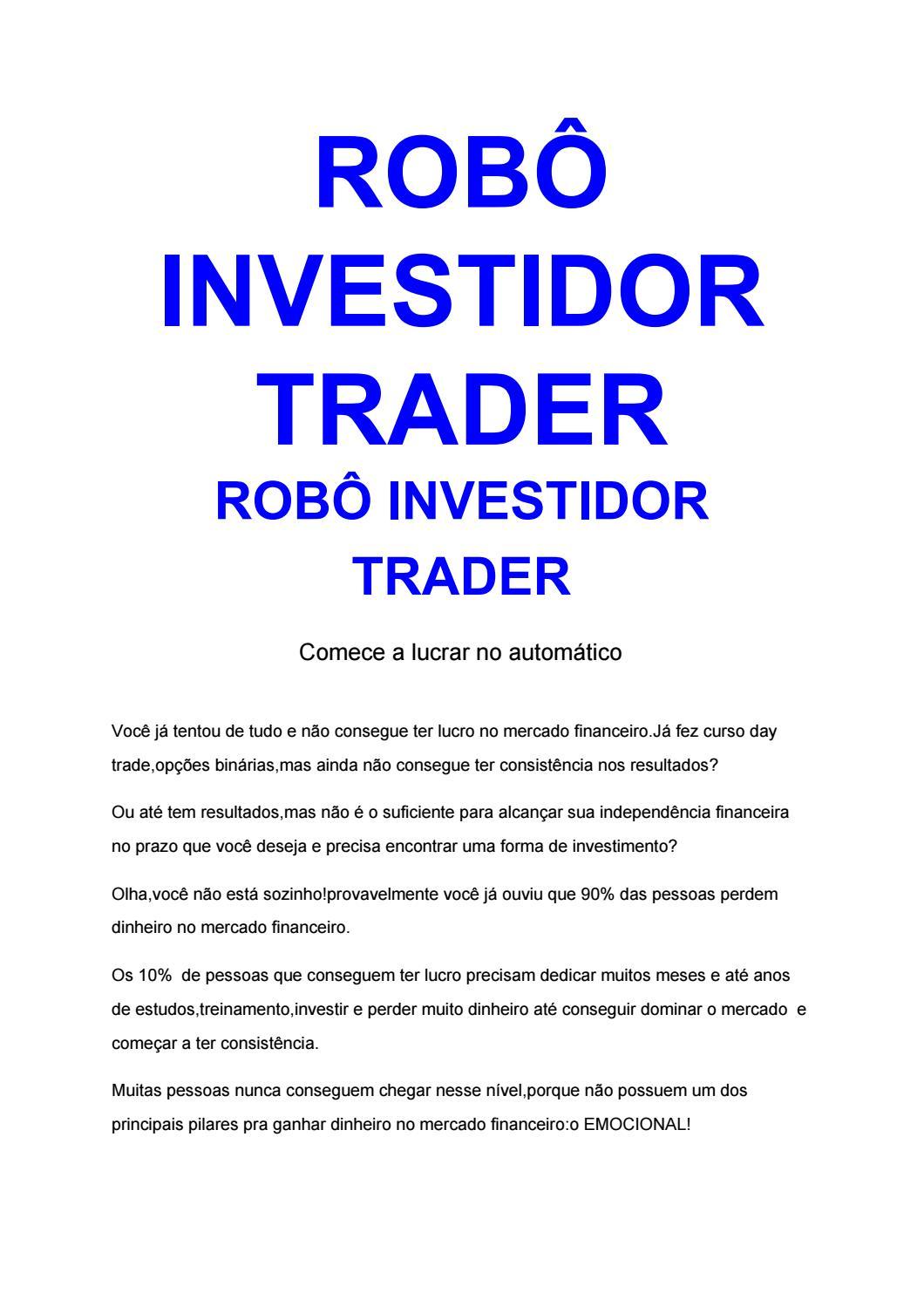 day trade com robo