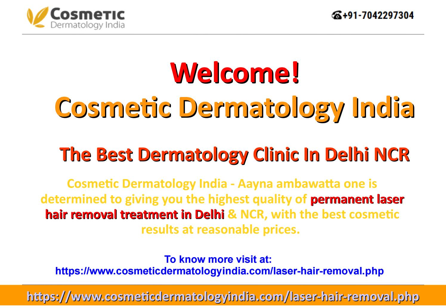 Laser Hair Removal Cost In India By Cosmetic Dermatology India Issuu