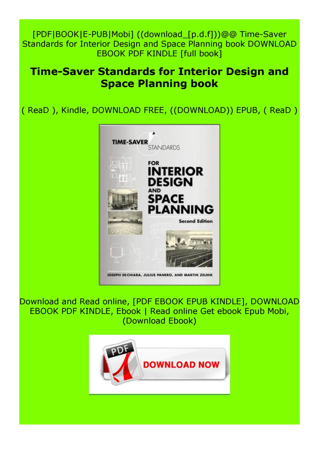 Read Online Time Saver Standards For Interior Design And Space Planning Book By Wdstfdgtddvze Issuu