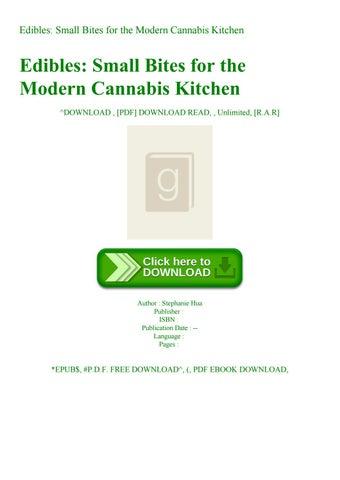 Edibles Small Bites For The Modern Cannabis Kitchen By Hdj Sha3watr Issuu