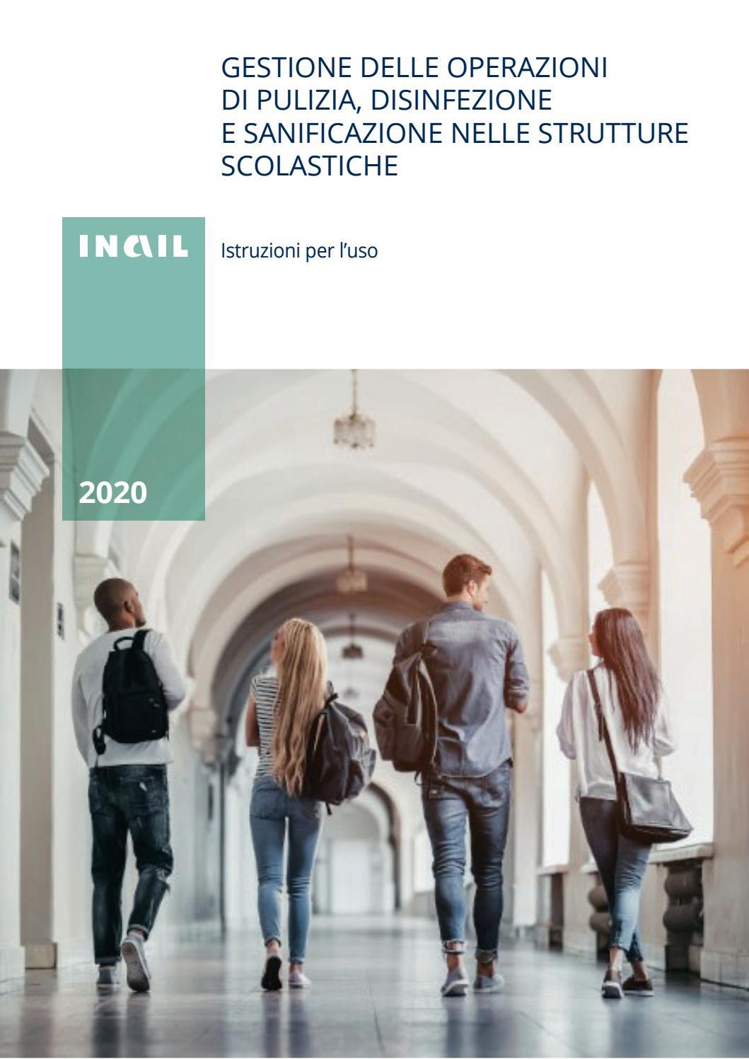 Inail 2020 - Gestione delle operazioni di pulizia, disinfezione e  sanificazione nelle strutture sco by Laboratorio Polizia Democratica - issuu