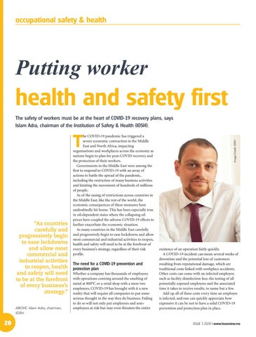 Putting worker health and safety first