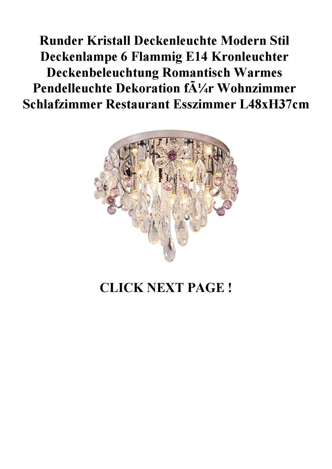 Big Discount Runder Kristall Deckenleuchte Modern Stil Deckenlampe 6 Flammig E14 Kronleuchter Deck By Sdfwervcde Issuu
