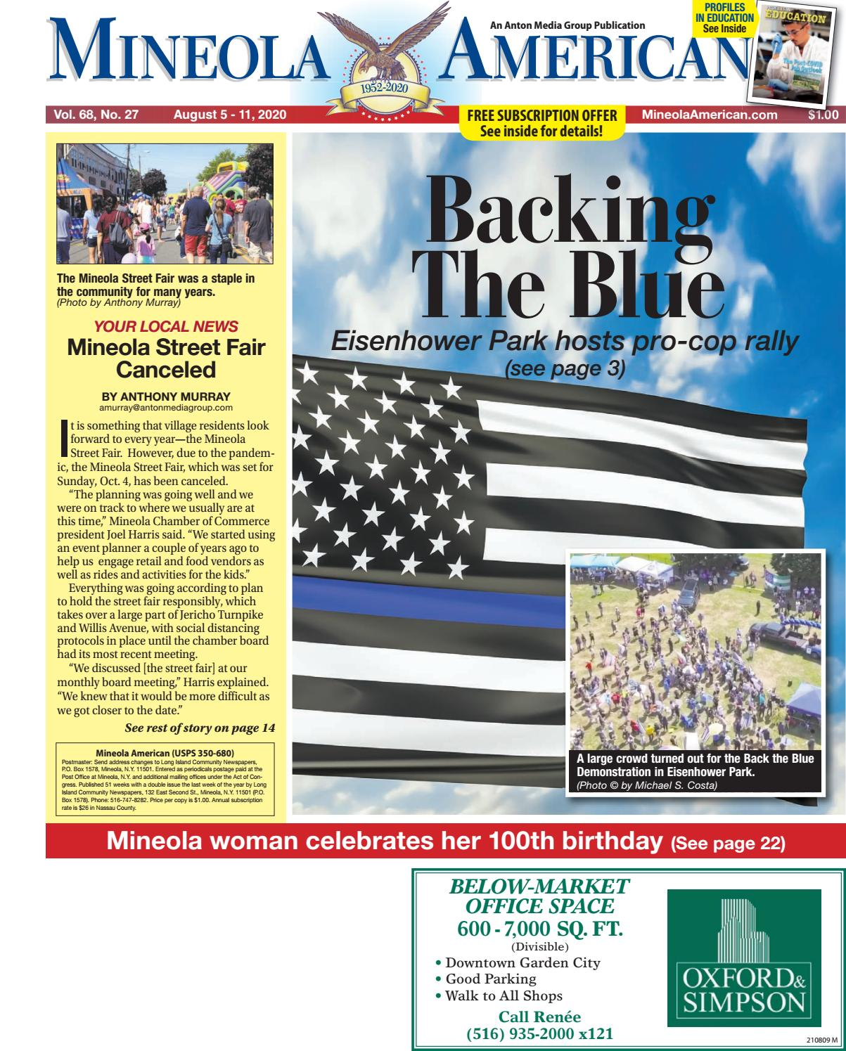 08 05 20 Mineola American Published By Anton Media Group By Anton Community Newspapers Issuu