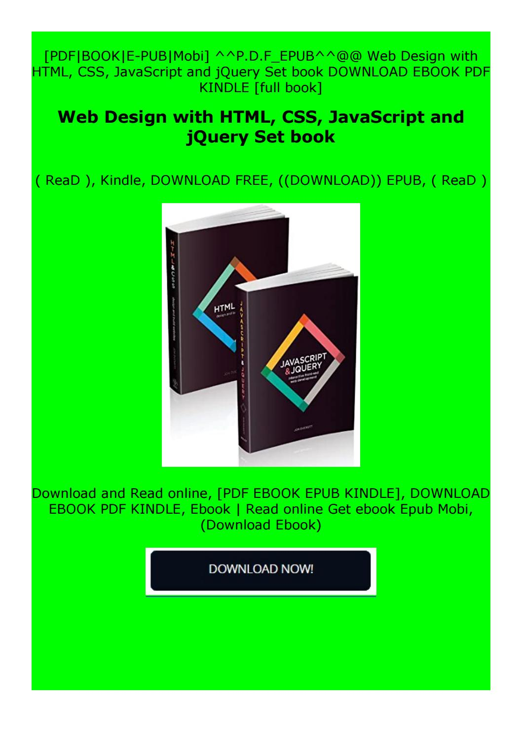 Epub Web Design With Html Css Javascript And Jquery Set Book By Csefghyu Issuu