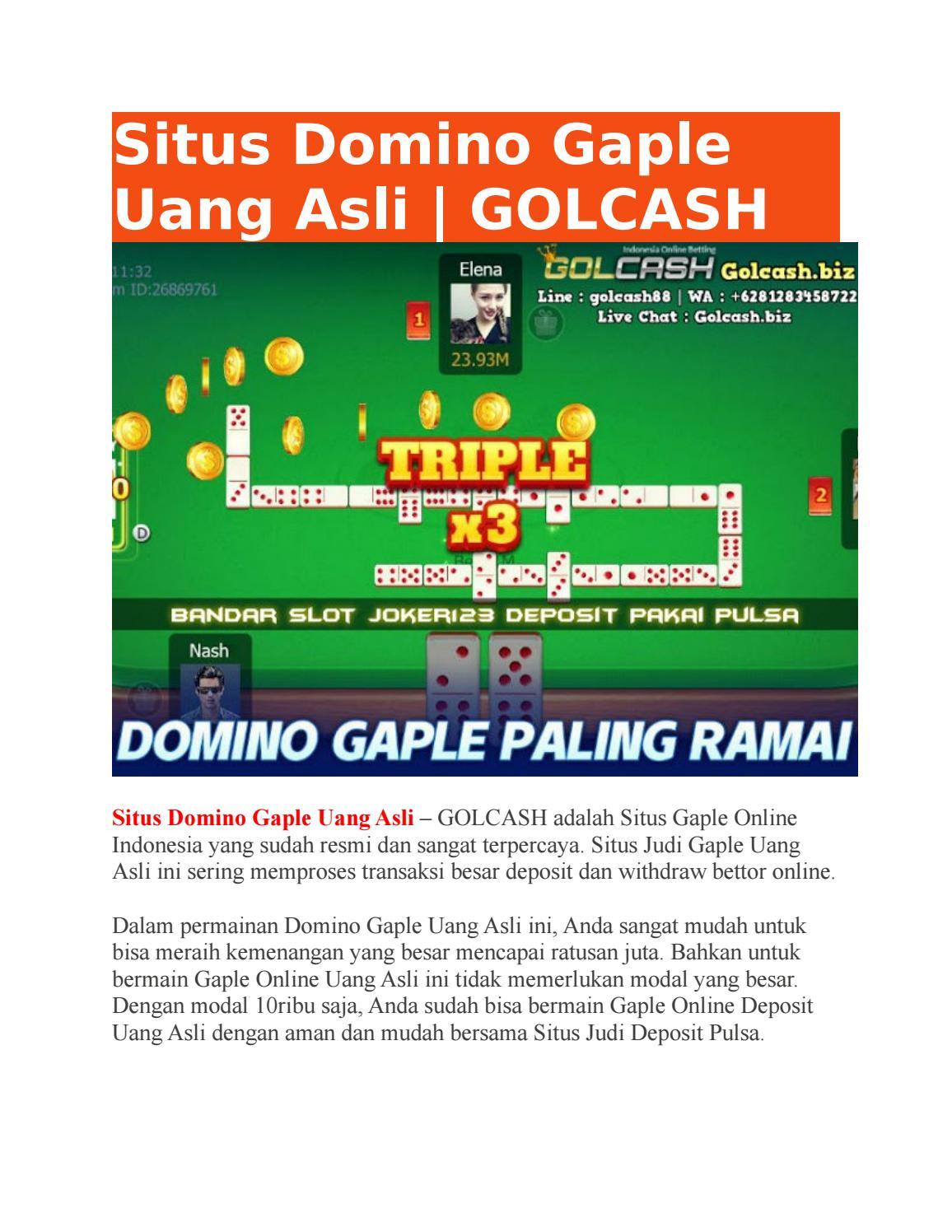 Situs Domino Gaple Uang Asli Golcash By Golcash Issuu