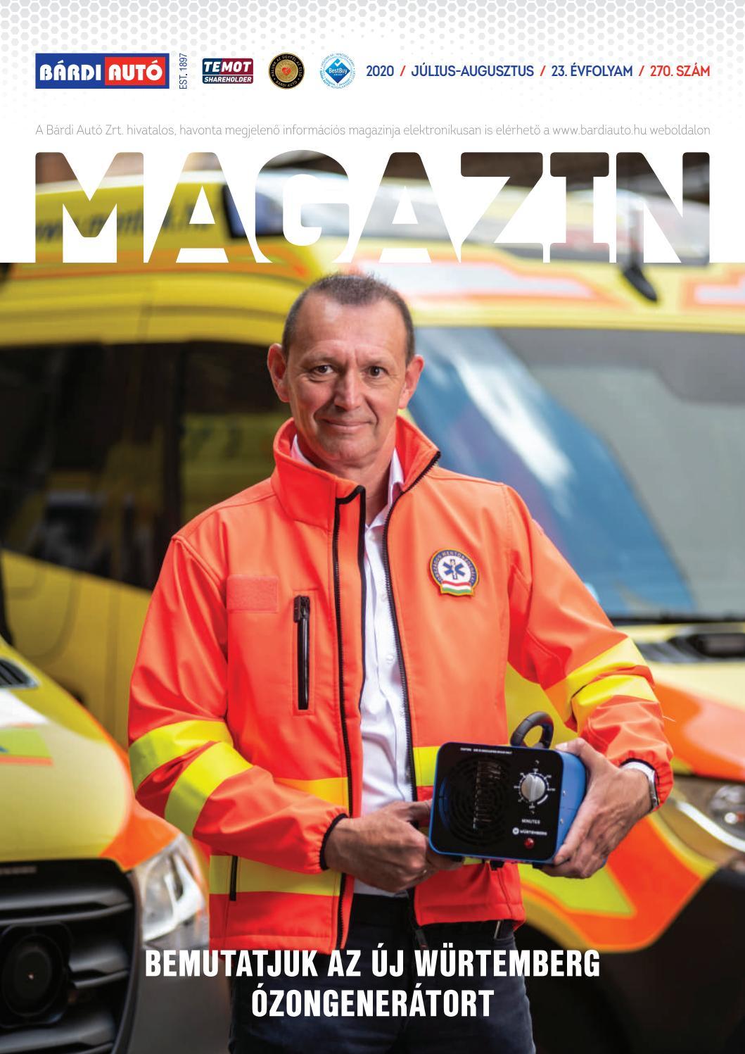Bardi Auto Magazin Bemutatjuk Az Uj Wurtemberg Ozongeneratort By Bardiauto Issuu