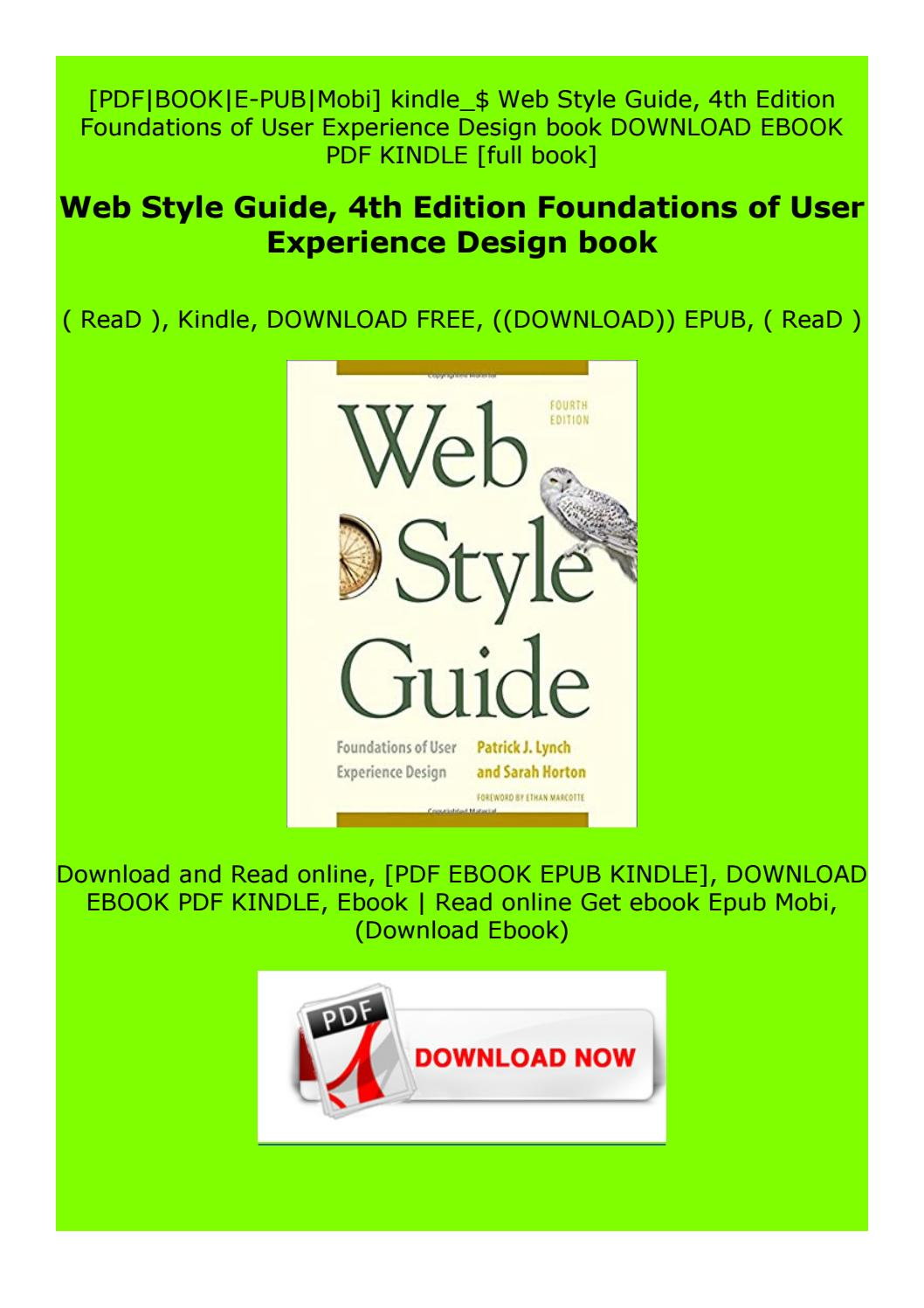 Read Online Web Style Guide 4th Edition Foundations Of User Experience Design Book By Cszfdrdyrdfgdgs Issuu