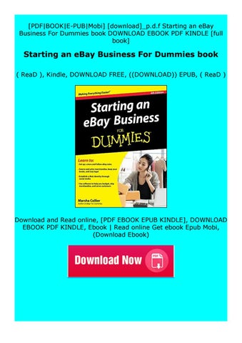 Read Online Starting An Ebay Business For Dummies Book By Xzfdgdzgdtdzfze Issuu