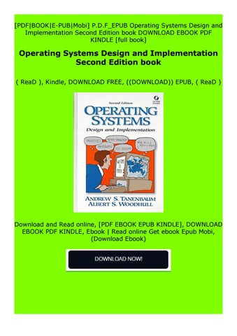 Read Online Operating Systems Design And Implementation Second Edition Book By Adstegdzetgesfs Issuu