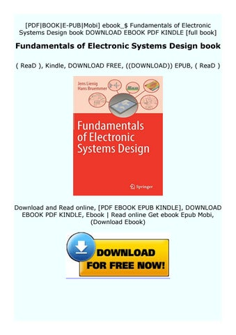 Paperback Fundamentals Of Electronic Systems Design Book By Dsxw3drfytgt Issuu