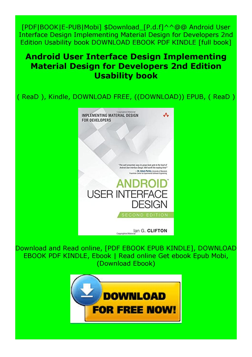 Pdf Android User Interface Design Implementing Material Design For Developers 2nd Edition By Dsresdfztsdfdfsz Issuu
