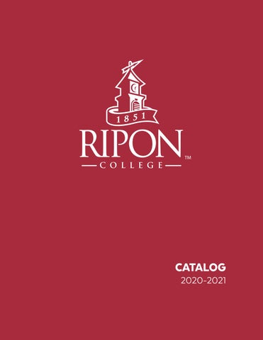 Ripon College Catalog 2020 2021 by Ripon College   issuu
