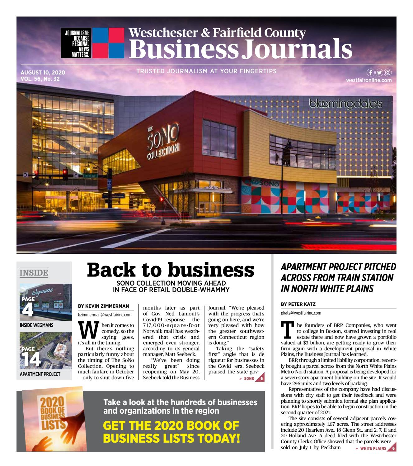 Westchester And Fairfield County Business Journals 081020 By Wag Magazine Issuu