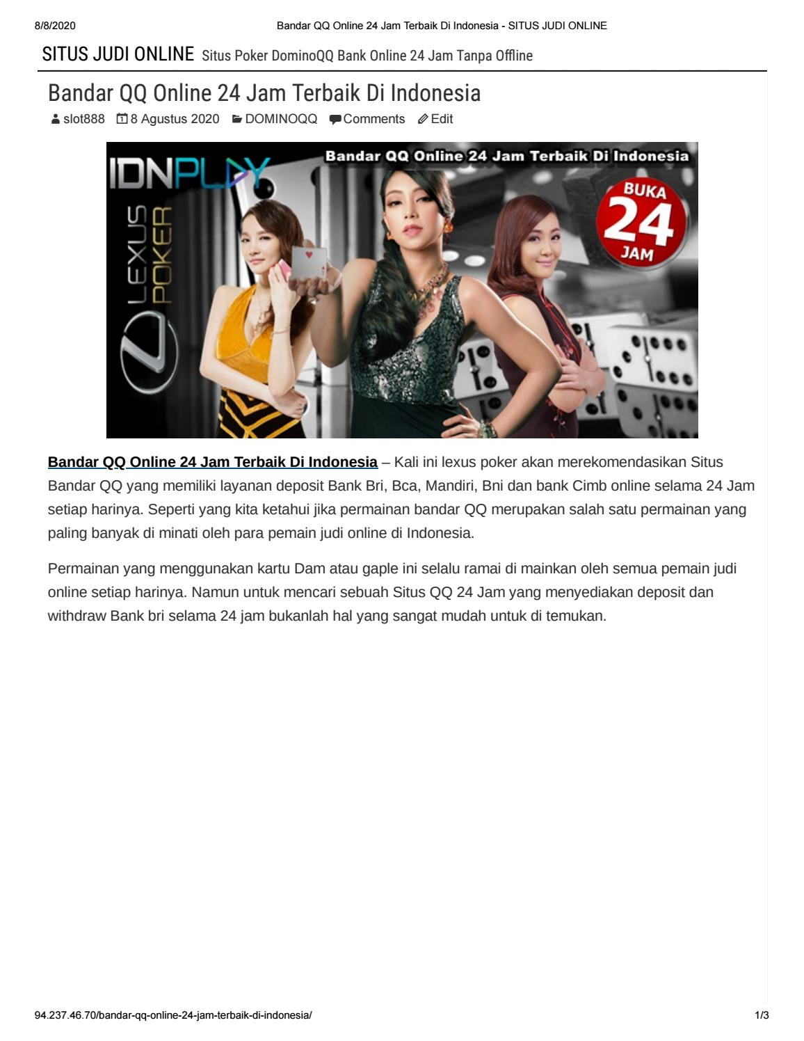 Lexus Poker Bandar Qq Online 24 Jam Terbaik Di Indonesia By Sakurapoker Issuu