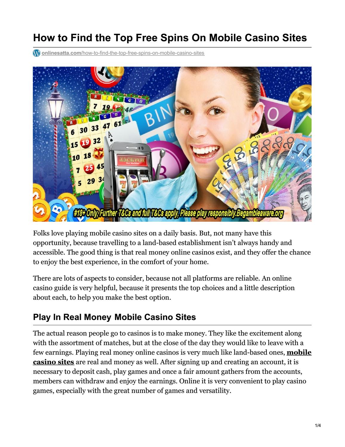 How To Find The Top Free Spins On Mobile Casino Sites By Mohit Sharma Issuu