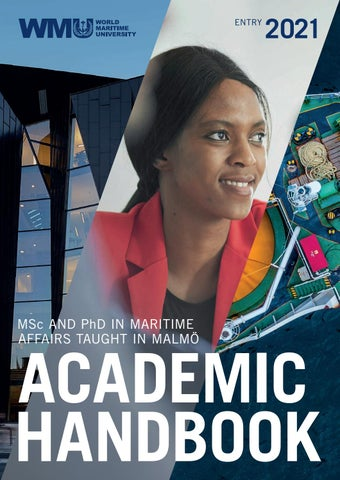 Wmu Academic Calendar 2021-22 Academic Handbook Entry 2021 by World Maritime University   issuu