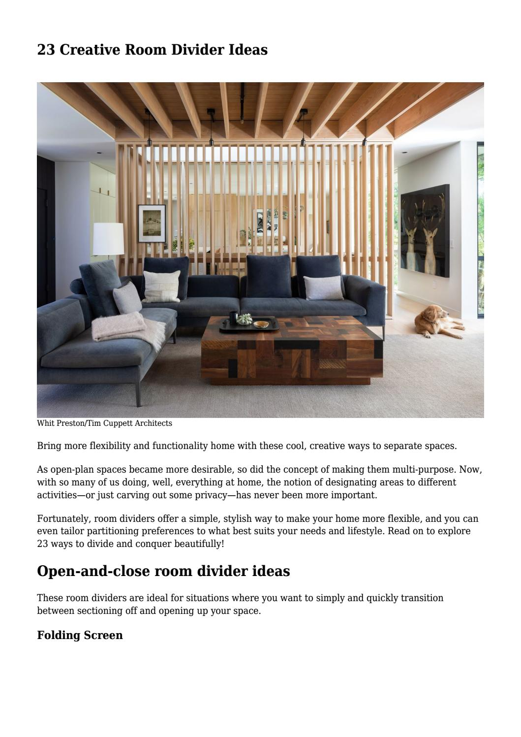 23 Creative Room Divider Ideas By Louisrowan8521 Issuu