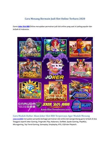 Bagaimana Cara Mudah Memenangkan Judi Daftar Slot Online Terpercaya? - Situs Judi Online