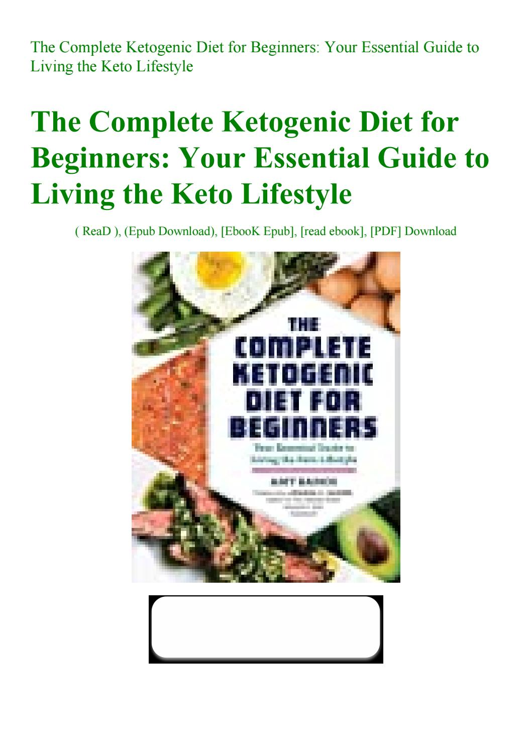 the complete ketogenic diet for beginners epub