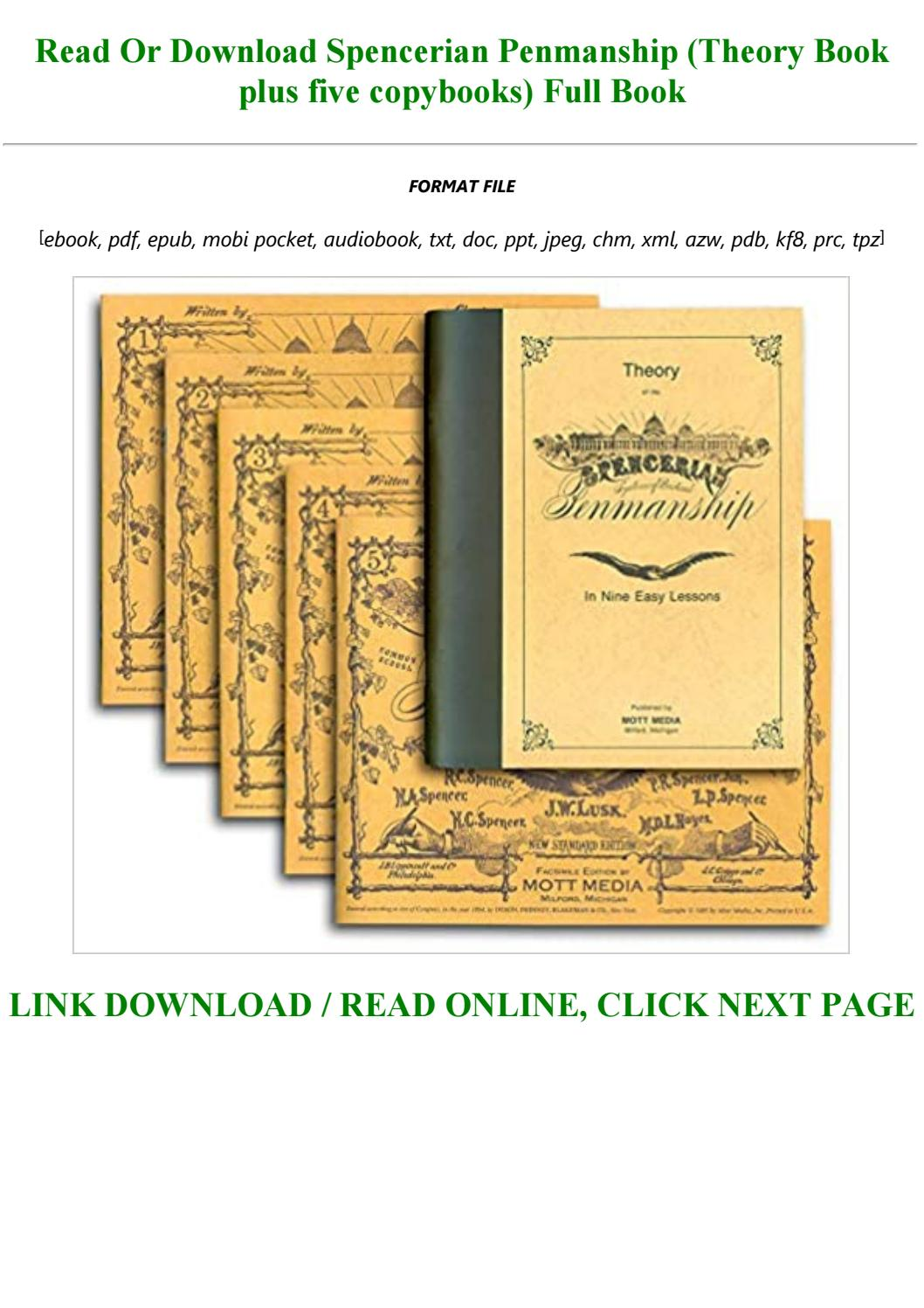 E Book Download Spencerian Penmanship Theory Book Plus Five Copybooks Full By Chickie146546 Issuu