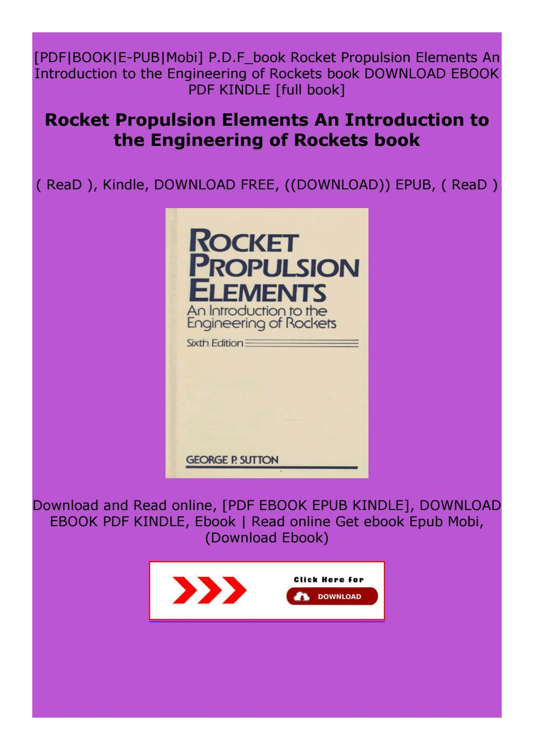 Paperback Rocket Propulsion Elements An Introduction To The Engineering Of Rockets Book By Cszvxfbgtxvzxzerdx Issuu