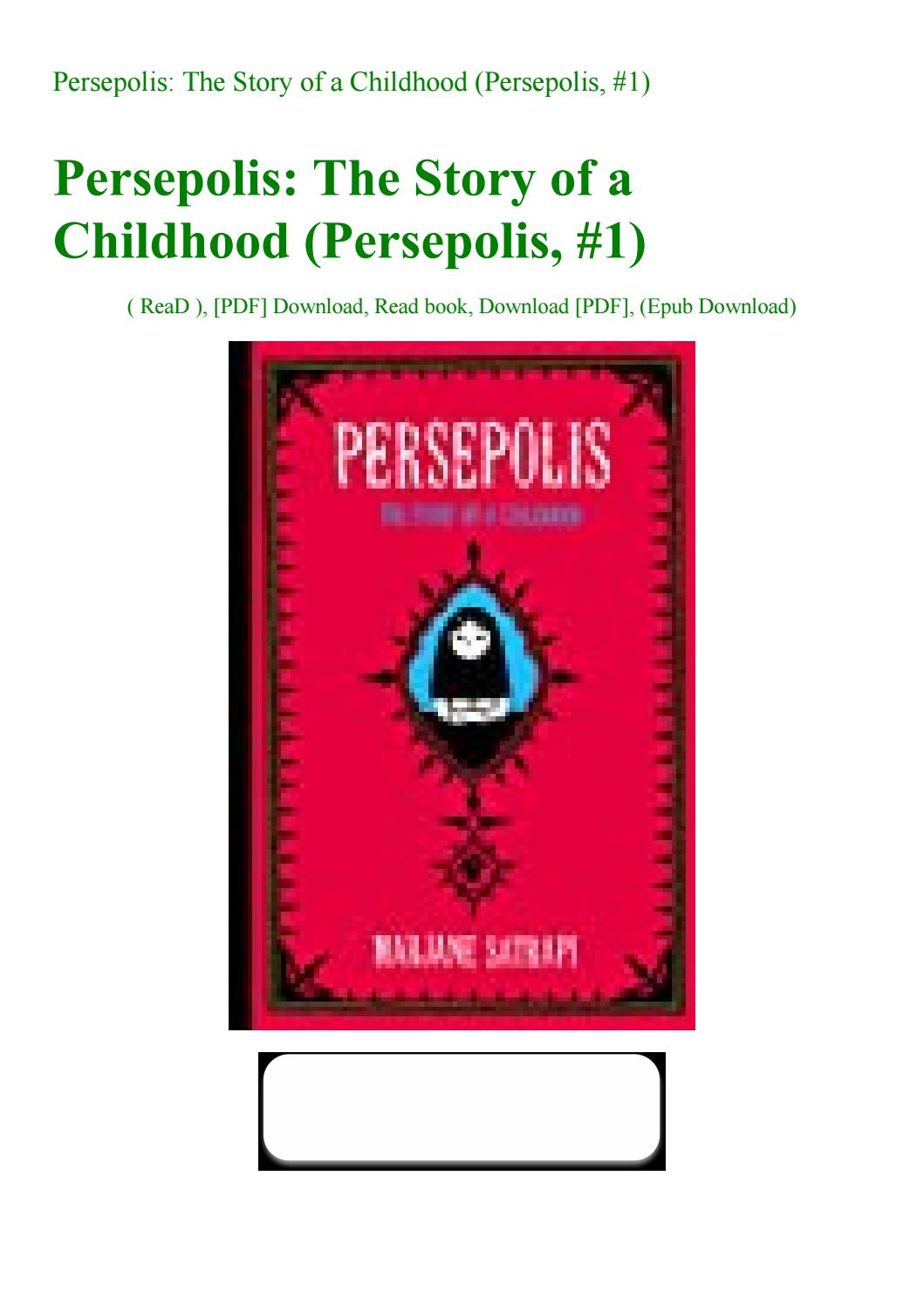 Persepolis The Story Of A Childhood Persepolis 1 By Ojoj7 Issuu