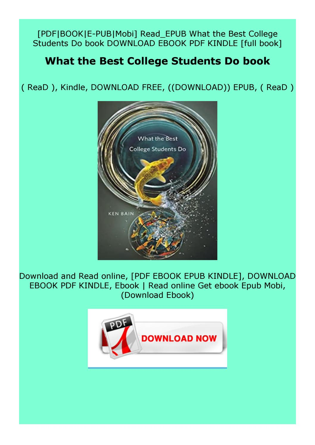 Full Pages What The Best College Students Do Book By Fdtfdfzfdgdfer Issuu