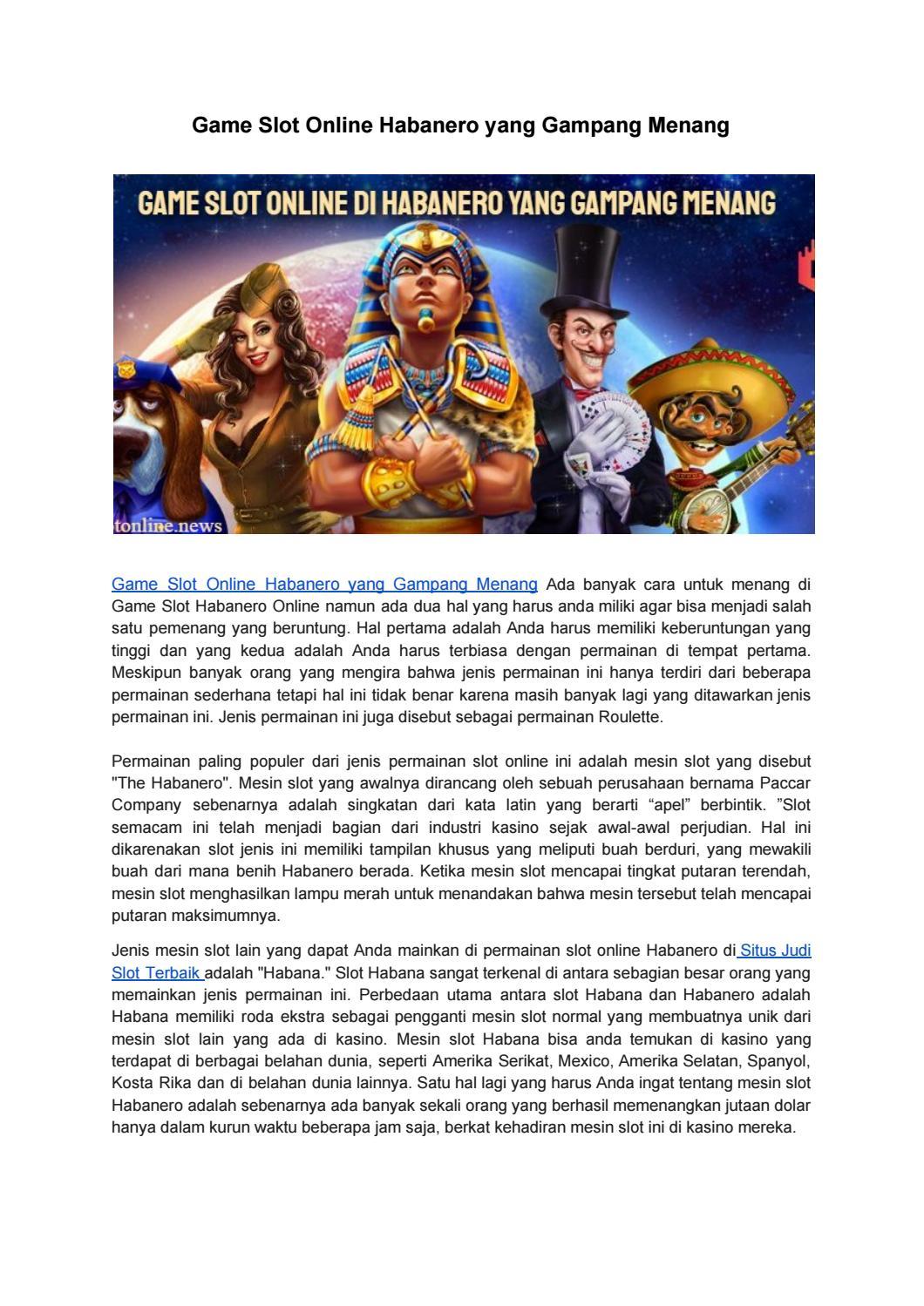 Game Slot Online Habanero Yang Gampang Menang By Slot Online Issuu