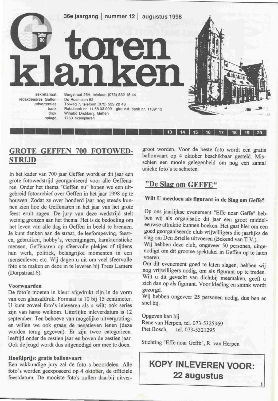 Torenklanken 1998 Nr 12 By Geffen Nl Issuu
