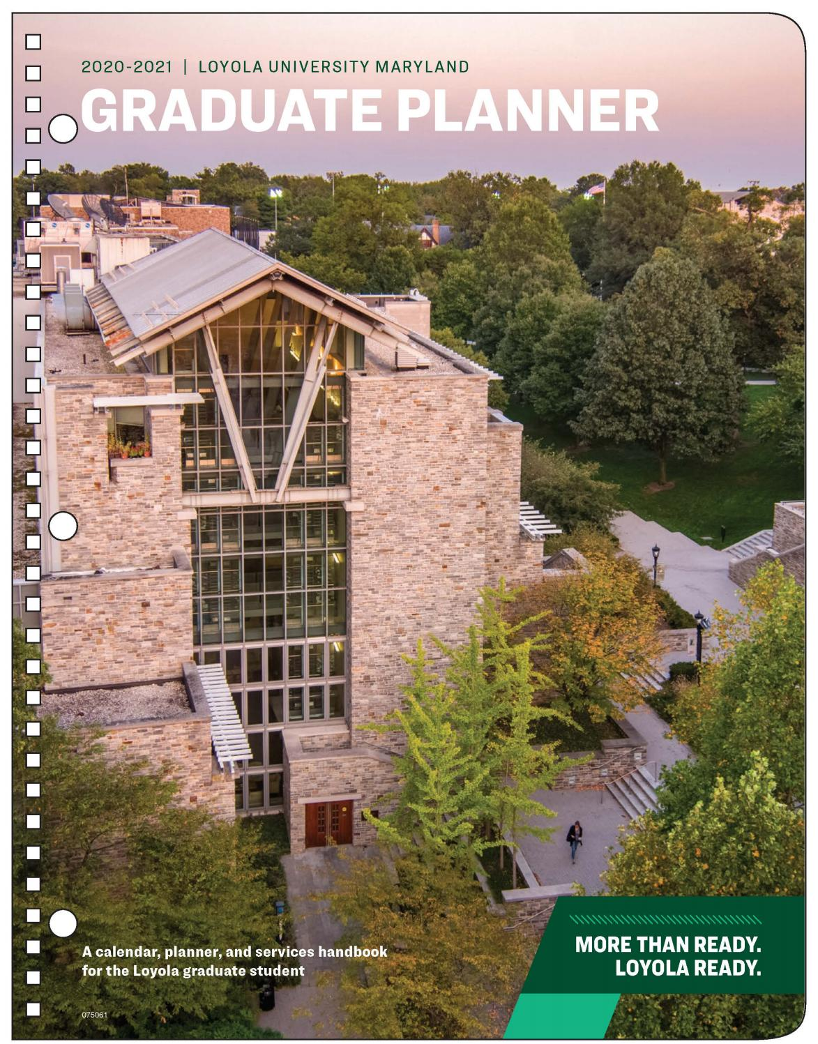 2020 2021 Loyola University Maryland Graduate Planner and Services