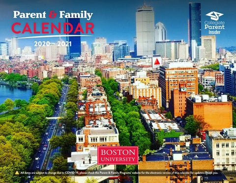 Boston University Calendar by CollegiateParent   issuu