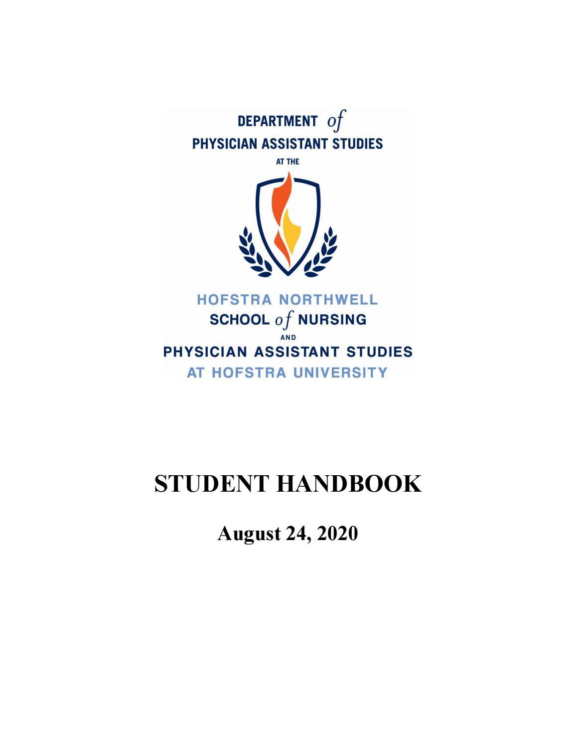 Hofstra Spring 2022 Calendar.School Of Nursing And Physician Assistant Studies At Hofstra University Student Handbook 08 24 2020 By Hofstra University Issuu