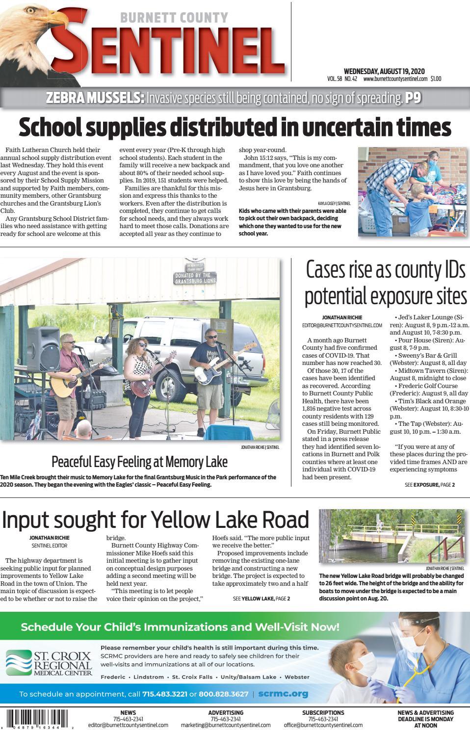 Burnett County Sentinel August 19 2020 By Burnett County Sentinel Issuu