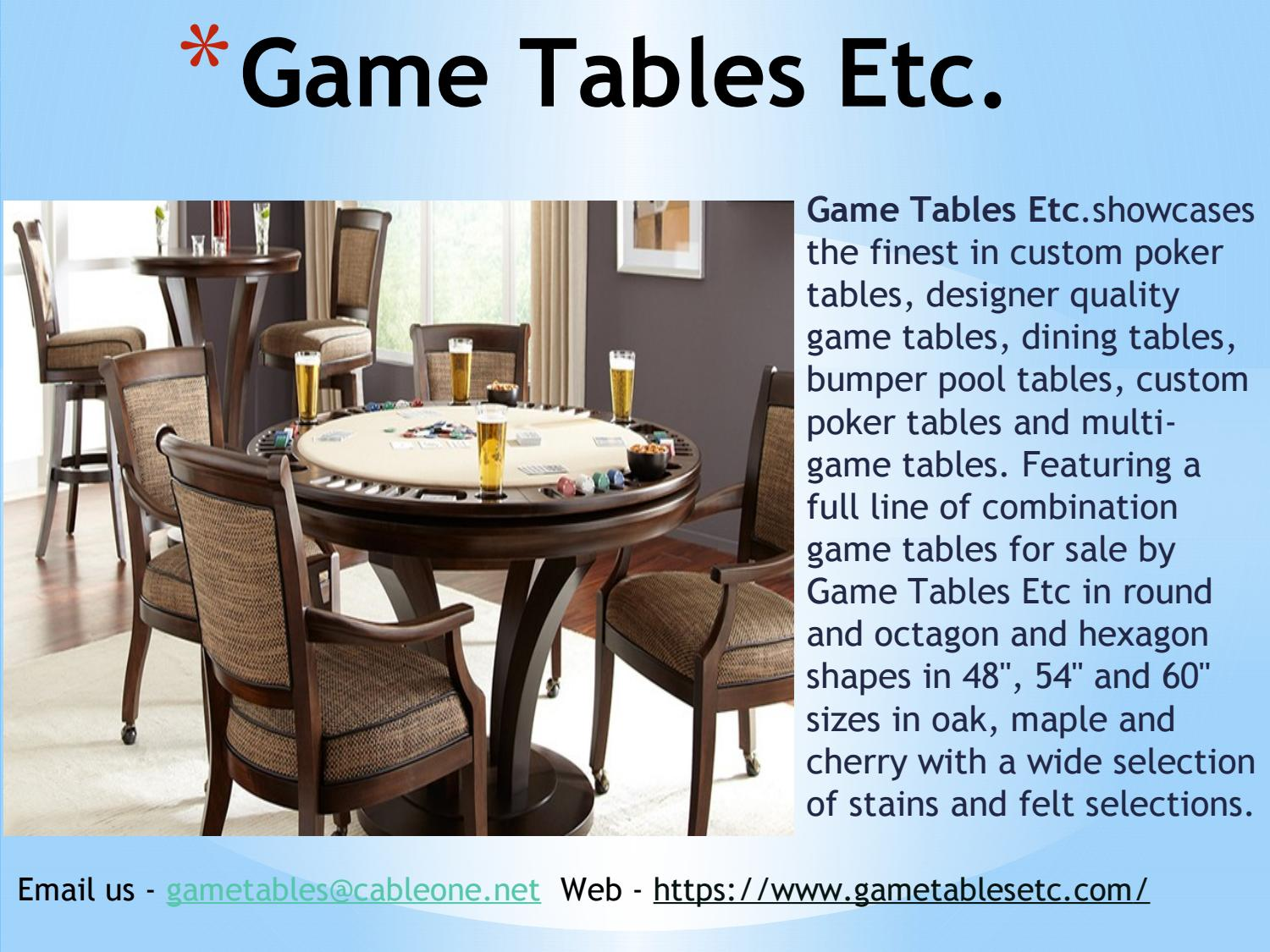 Picture of: Buy World Class Game Tables In California By Gametablesetc Issuu