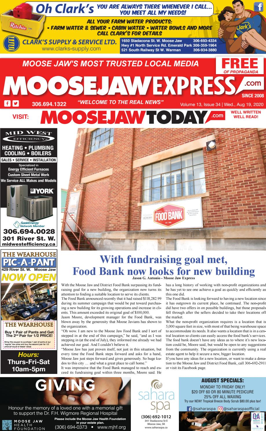 Moose Jaw Express August 19th 2020 By Moose Jaw Express Issuu