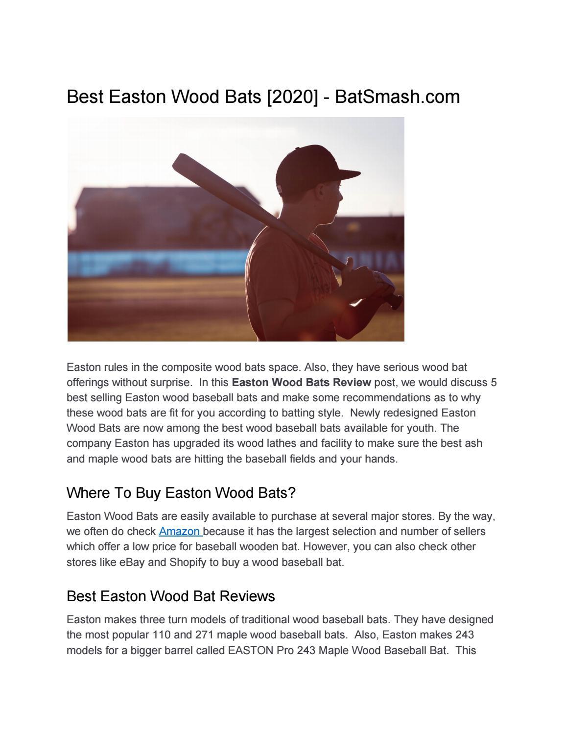 Best Easton Wood Bats