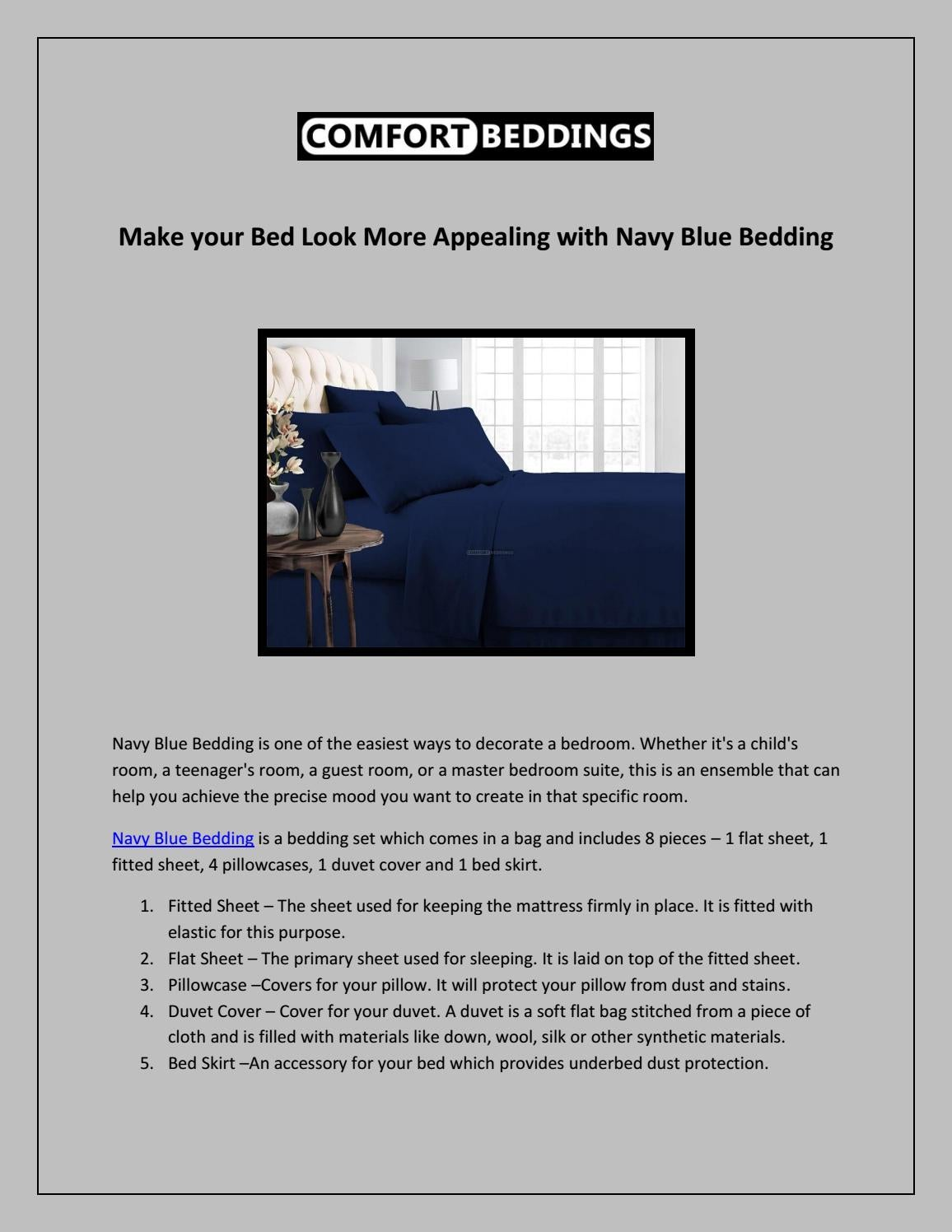 Make Your Bed Look More Appealing With Navy Blue Bedding By Navybluebedding Issuu