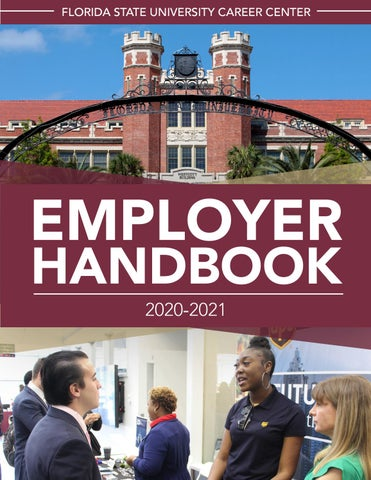 Fsu Calendar Fall 2021 Employer Handbook 2020 2021 by Florida State University Career