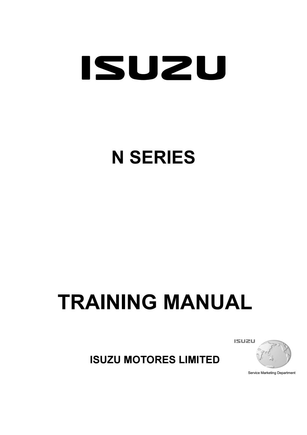 Isuzu N Series Engine Training Manual Pdf Download By Heydownloads Issuu